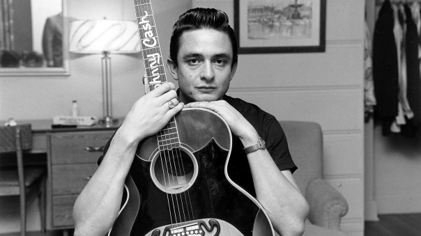 Johnny Cash in black