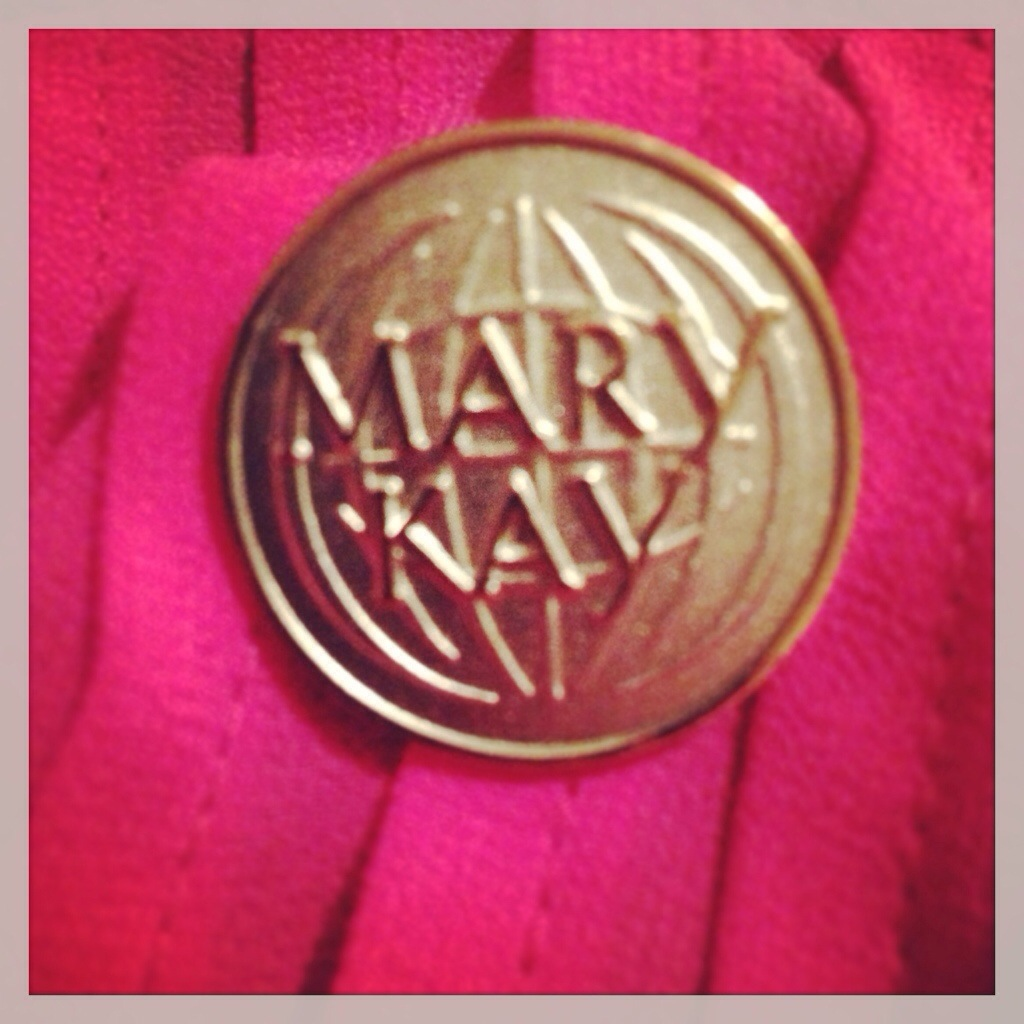 Sara at Mary Kay pin