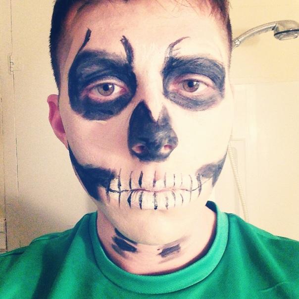 Cazey as a Skeleton