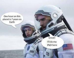Interstellar one year on this planet